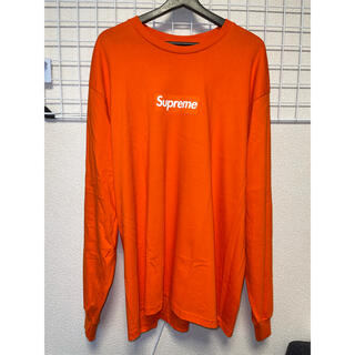Supreme - Supreme Box Logo L/S Tee Orange ボックスロゴ