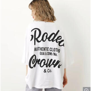 RODEO CROWNS WIDE BOWL - 新品 ロデオクラウンズ  ピグメント 5 SLEEVE BIGトップス 白