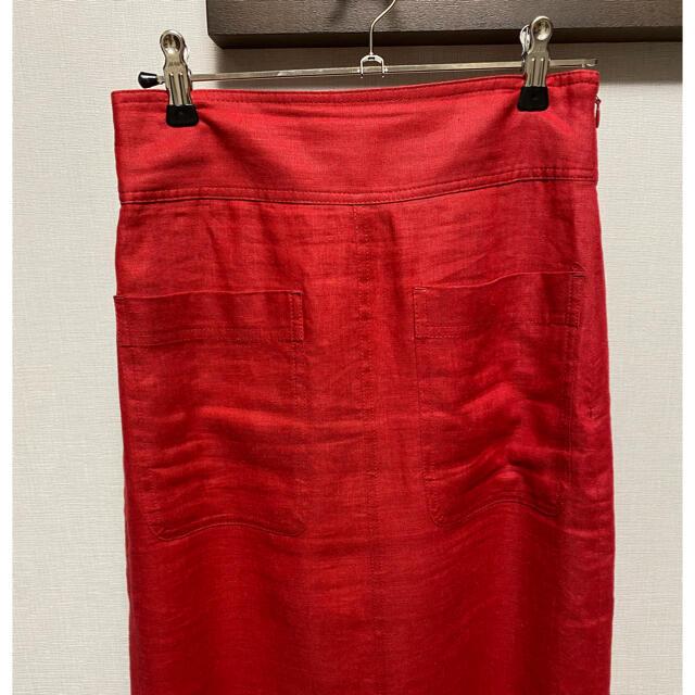 Mila Owen(ミラオーウェン)のミラ オーウェン リネンタイトスカート レディースのスカート(ロングスカート)の商品写真