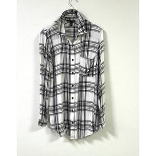 ZARA - 完売■激安■フォエバー21チェックシャツロングシャツオーバーシャツ