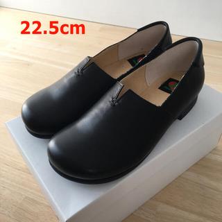 レザー フラット シューズ 黒(ローファー/革靴)