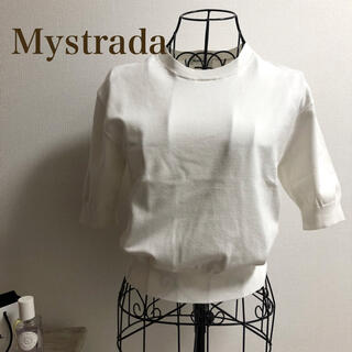 Mystrada - Mystrada★マイストラーダ★スプリング五分袖ゆるニット