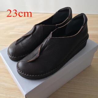 レザー フラットシューズ ブラウン(ローファー/革靴)