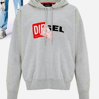 ディーゼル(DIESEL)の【新品未使用】DIESEL ディーゼル/ブランドロゴ パーカー Lサイズ(パーカー)