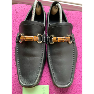 グッチ(Gucci)のグッチ 革靴 27.5センチ 黒(ドレス/ビジネス)