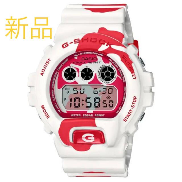 G-SHOCK(ジーショック)のG-SHOCK NISHIKIGOI 錦鯉 紅白 DW-6900JK-4JR メンズの時計(腕時計(デジタル))の商品写真