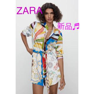 ZARA - ZARA プリント柄ワンピース 新品♬