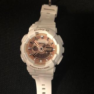 ベビージー(Baby-G)のBaby-G ピンクとホワイトの時計 (腕時計)