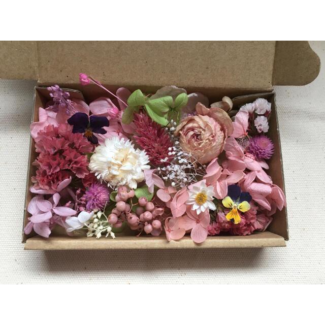 花材 ドライフラワー ピンク系 詰め合わせ ハーバリウム ボタニカルキャンドル ハンドメイドのフラワー/ガーデン(ドライフラワー)の商品写真