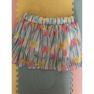 ニシマツヤ(西松屋)のお花のスカート♡130(スカート)