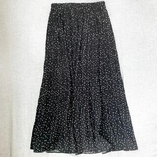 dholic - dholic ドットプリーツスカート
