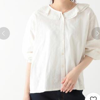 STUDIO CLIP - 刺繍切り替えフリル襟ブラウス