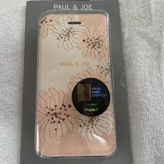 ポールアンドジョー(PAUL & JOE)の新品 PAUL&JOE ポールアンドジョー iphone7 手帳型(iPhoneケース)