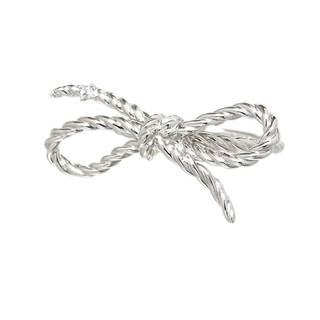 TASAKI - タサキ TASAKI リボンデザイン 1Pダイヤ ファッションリング 【中古】