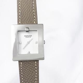 Hermes - 【仕上済】エルメス スクエア ベルトウォッチ シルバー レディース 腕時計