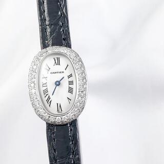 カルティエ(Cartier)の【仮保証書付】カルティエ ミニベニュワール WG ダイヤ レディース 腕時計(腕時計)