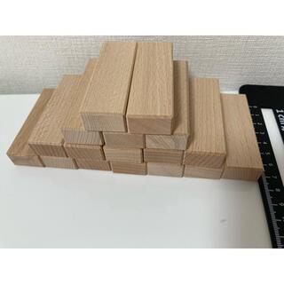 木製ジェンガ 17個(積み木/ブロック)