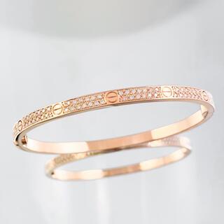 Cartier - 【保証書付】カルティエ ラブブレス SM PG 16 ダイヤ ブレスレット