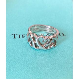 Tiffany & Co. - ティファニー トリプル ラビングハート リング  9号 指輪