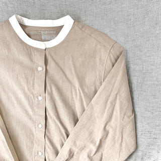 MUJI (無印良品) - MUJI バンドカラーシャツ