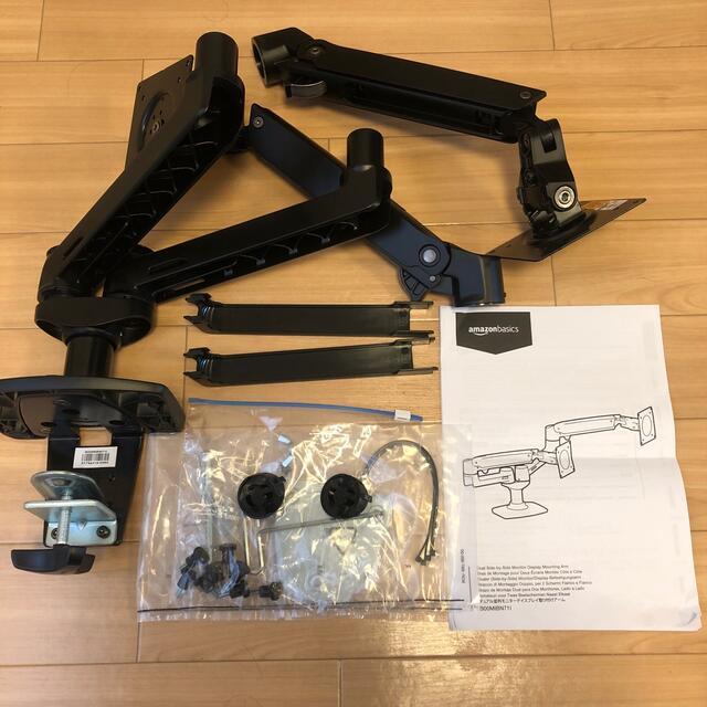 Amazonベーシック モニターアーム デュアル (エルゴトロン OEM) スマホ/家電/カメラのPC/タブレット(ディスプレイ)の商品写真