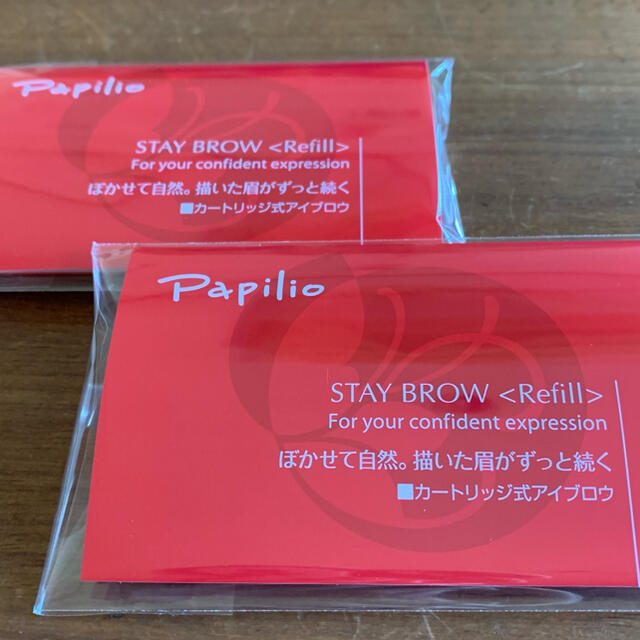 パピリオ ステイブロウ 001ライトブラウン キャップ付きリフィル(1本入) コスメ/美容のベースメイク/化粧品(アイブロウペンシル)の商品写真