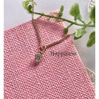 キュービックジルコニア CZ 一粒ネックレス シンプル(ネックレス)