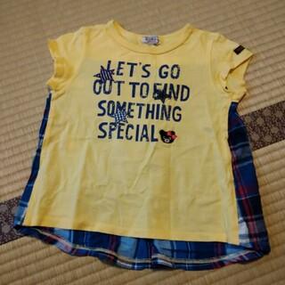 DOUBLE.B - ミキハウス ダブルB 背中切り替え ヘムライン風半袖Tシャツ 110
