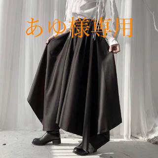袴パンツ ユニセックス 黒 フリーサイズ ゴシック ヨウジヤマモト好きの方に