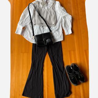 シマムラ(しまむら)のしまむらシャツテレコフレア靴guニットビスチェGRLバックセット(セット/コーデ)