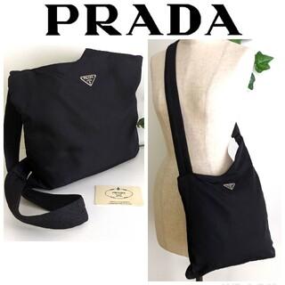 PRADA - 良品 PRADA ナイロン 斜め掛け ショルダーバッグ 黒 レディース メンズ