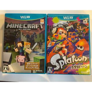ウィーユー(Wii U)のMinecraft  マイクラ スプラトゥーン セット売りWii U(家庭用ゲームソフト)