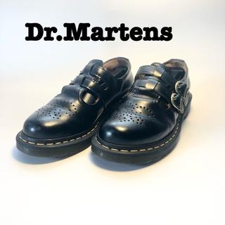 ドクターマーチン(Dr.Martens)のドクターマーチン メリージェーン uk6 ブラック 黒(ローファー/革靴)