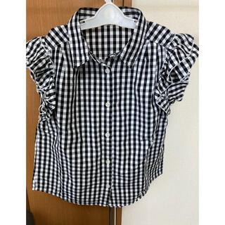 女児袖フリルシャツ140