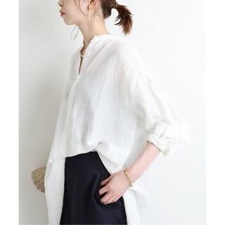 IENA - IENA【イエナ】☆ラミーリヨセルバックギャザーシャツ 新品ホワイト38