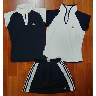 adidas - アディダス adidas テニスウエア Sセット シャツ2枚+スカートパンツ