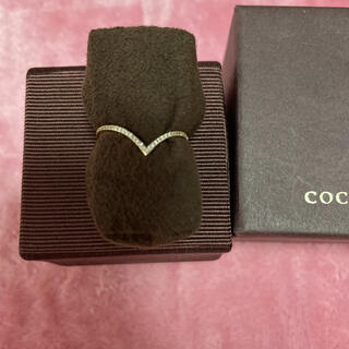 COCOSHNIK - COCOSHNIK ココシュニック ダイヤモンド V字 リング 14号