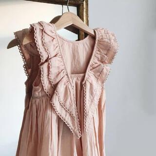 Caramel baby&child  - faune 2-4y ワンピース  ドレス ピンク wren