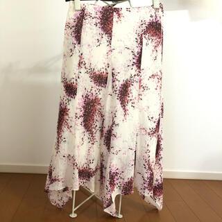 エルプラネット(ELLE PLANETE)のエルプラネット(ELLE PLANETE) 花柄 綿ローン スカート(ひざ丈スカート)