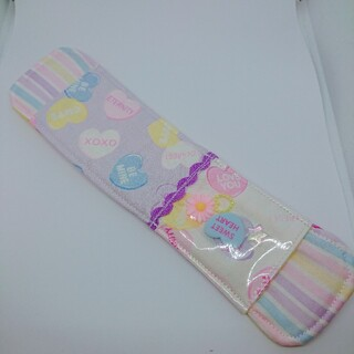 水筒肩紐カバー キャンディハーツ(外出用品)