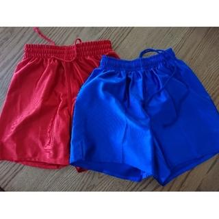 プーマ(PUMA)のサッカー 短パン 光沢 2枚セット 130 赤 青 プーマ 他(ウェア)