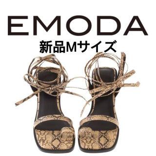 EMODA - 値下げ 新品Emodaエモダストラップシューズレスアップサンダルレディース靴 M