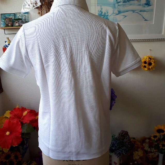 EASTBOY(イーストボーイ)の新品⭐EAST BOY COOL MAX ポロ⭐ホワイト・薄ピンク女神/11 レディースのトップス(ポロシャツ)の商品写真