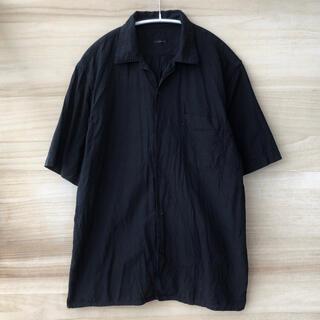 COMOLI - 19SS comoli ベタシャンプ オープンカラーシャツ ブラック