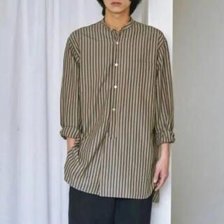 COMOLI - 16AW comoli ロンドンストライプバンドカラーシャツ コモリ