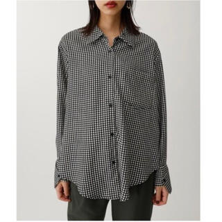 moussy - 【翌日発送】moussy HOUNDSTOOTH LOOSE SHIRT