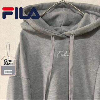 FILA - フィラ FILA プルオーバー パーカー フーディ 刺繍ロゴ