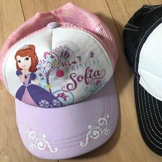 Disney - 女の子 キャップ 帽子 2点セット