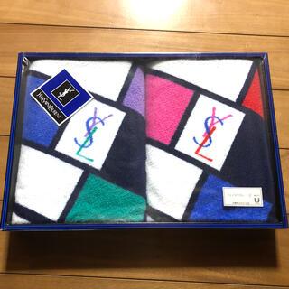 イヴサンローランボーテ(Yves Saint Laurent Beaute)の新品未使用 イヴサンローラン フェイスタオル2枚セット(タオル/バス用品)