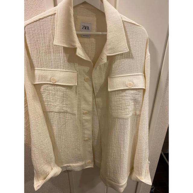 ZARA(ザラ)のZARA ホワイトジャケット メンズのジャケット/アウター(その他)の商品写真
